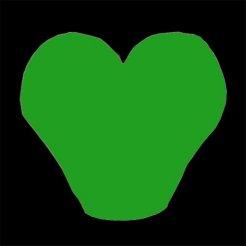 Lampión šťastia srdce zelený