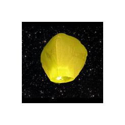 Lampion štěstí žlutý