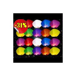 Lampióny šťastia Mix farieb 20 ks