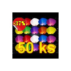 Lampióny šťastia Mix farieb 50 ks