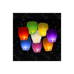 Lampióny šťastia Mix farieb 8 ks