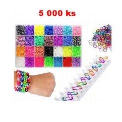 LOOM BANDS - sada 5 000 gumičiek + príslušenstvo
