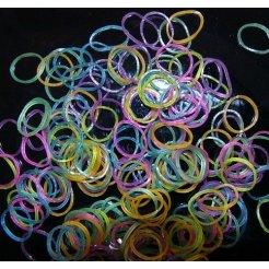 Loom Bands gumičky s háčikom na pletenie - priesvitné mix tmavý