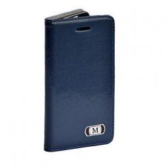 Luxusní pouzdro typu kniha pro Samsung Galaxy S6 Edge modré