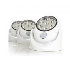 Forgó 7 LED-es lámpa mozgásérzékelővel