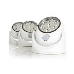 Otočná 7 LED lampa s pohybovým senzorom