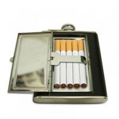 Ploskačka veľká 160 ml s púzdrom na cigarety