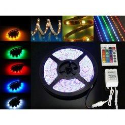RGB LED pásik vodeodolný 5m 60 SMD2835 / m + zdroj + RGB ovládač