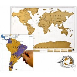 Stieracia mapa sveta DELUXE
