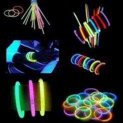 Világító karkötők kémiai fény 100 db