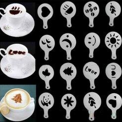 Kávé sablonok 16 db / készlet