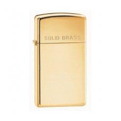 ZIPPO öngyújtó 24067 Solid Brass Slim