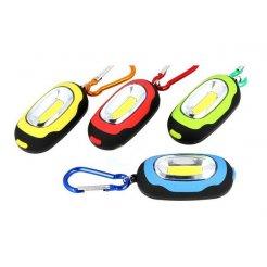 SOS prívesok s LED svetlom, karabínou a magnetom
