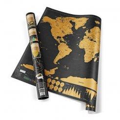 Stírací mapa světa DE LUXE 82 x 59 cm