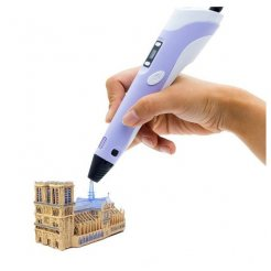3D toll LCD kijelzővel és kiegészítőkkel lila