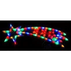 Vianočná multikolor LED dekorácia Kométa 76 x 24 cm