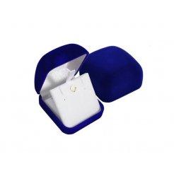 Modrá zamatová krabička 53 x 59 mm