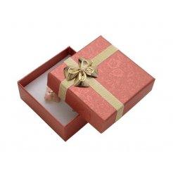Papierová darčeková krabička červená 59 x 59 mm