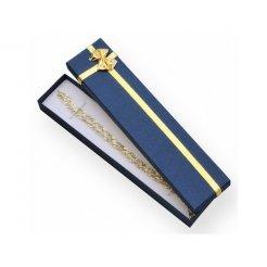 Papierová darčeková krabička modrá 210 x 40 mm