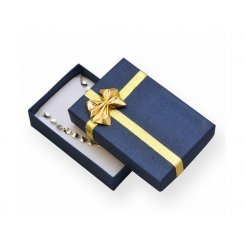 Papierová darčeková krabička modrá 50 x 80 mm