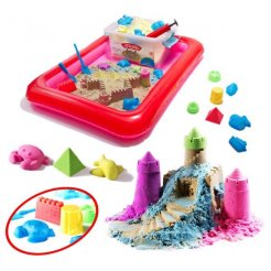 PlaySand Magický tekutý písek 2000g + formičky + pískoviště