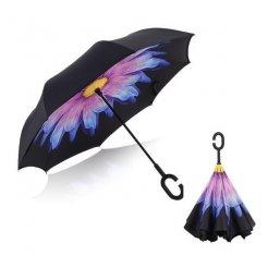Obrátený dáždnik Fialovo-žltý kvet