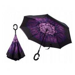 Obrácený deštník Fialový květ