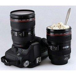 Termohrnček v tvare objektívu Canon