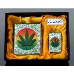 Ajándékkészlet Gentelo 4124 cigaretta tálca és benzines öngyújtó