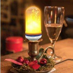 LED žiarovka - plamene