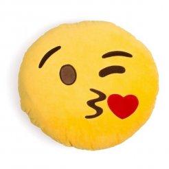 Plüss párna csók emoji 30 cm