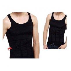 Slim N Lift férfi karcsúsító trikó fekete