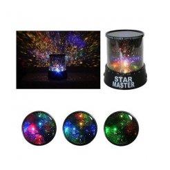 Lampička projektor hviezd nočnej oblohy
