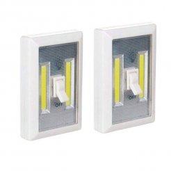 Přenosné bezdrátové světlo LED COB 3 W 2 ks