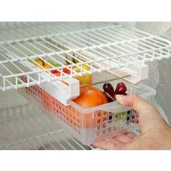 Perforált hűtőszekrény-fiók, 40 x 11 x 16 cm-es