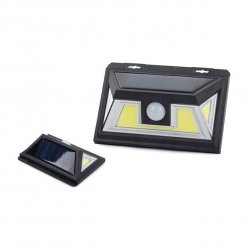 Napelemes kültéri LED COB villany mozgásérzékelővel