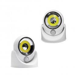 Přenosná lampa LED COB 360 s pohybovým senzorem