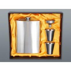 Nerezová ploskačka 240 ml s 2x pohárikmi a lievikom