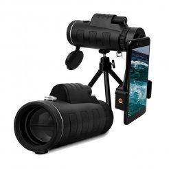 Monokulárny ďalekohľad Genetic Optical 50x60 + statív + adaptér na mobil