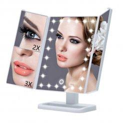 Kosmetické zrcadlo s podsvícením 22 LED + Zoom
