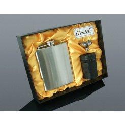 Rozsdamentes csutora, 240 ml, 4 db kupicával és tölcsérrel