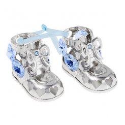 Chlapecké postříbřené botičky Swarovski
