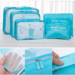 Utazási poggyász szervező Laundry Pouch Travel 6db-os készlet