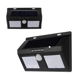 Solární venkovní Dual 40 LED osvětlení s pohybovým senzorem