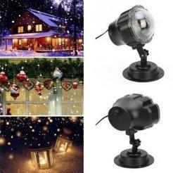 Lézeres LED-kivetítő hóhatással