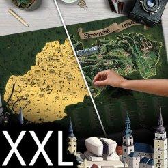 Letörlő Szlovákia térképe DELUXE XXL - aranyszínű