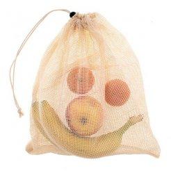 Gyapotból készült hálózacskó gyümölcsre és zöldségre 20x22,5 cm