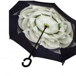 Obrácený deštník Zelený květ