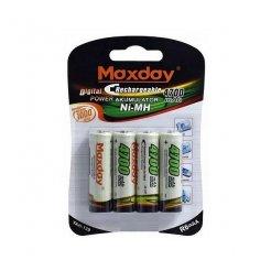Maxday Nabíjecí Baterie R6 AA 4700 mAh 4ks
