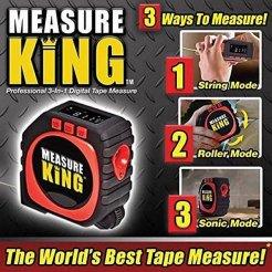 Measure King 3az1ben, lézeres távolságmérő, méter, vonalzó